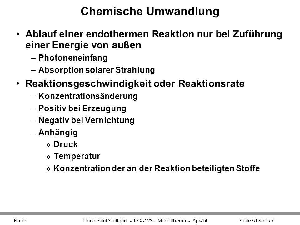 Chemische Umwandlung Ablauf einer endothermen Reaktion nur bei Zuführung einer Energie von außen. Photoneneinfang.