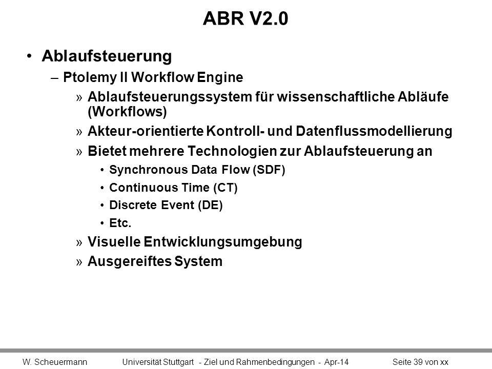ABR V2.0 Ablaufsteuerung Ptolemy II Workflow Engine
