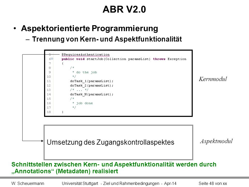 ABR V2.0 Aspektorientierte Programmierung