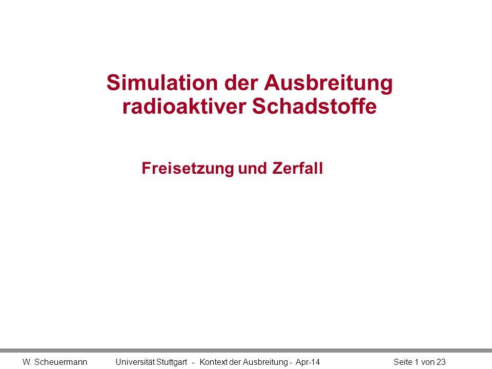 Simulation der Ausbreitung radioaktiver Schadstoffe