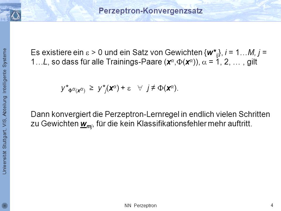 Perzeptron-Konvergenzsatz