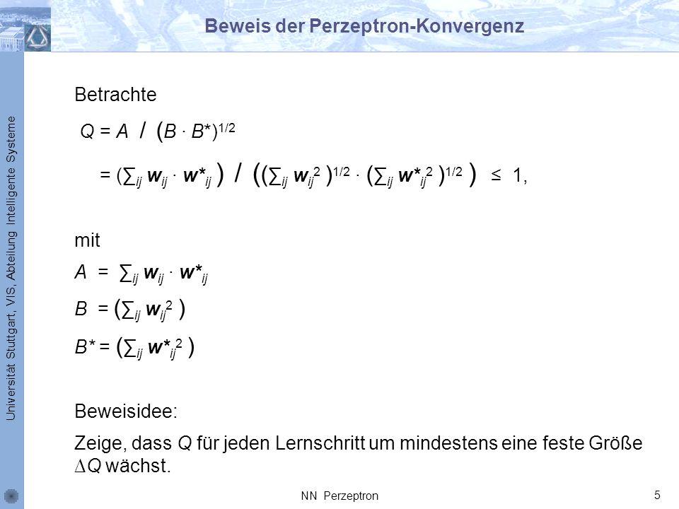 Beweis der Perzeptron-Konvergenz