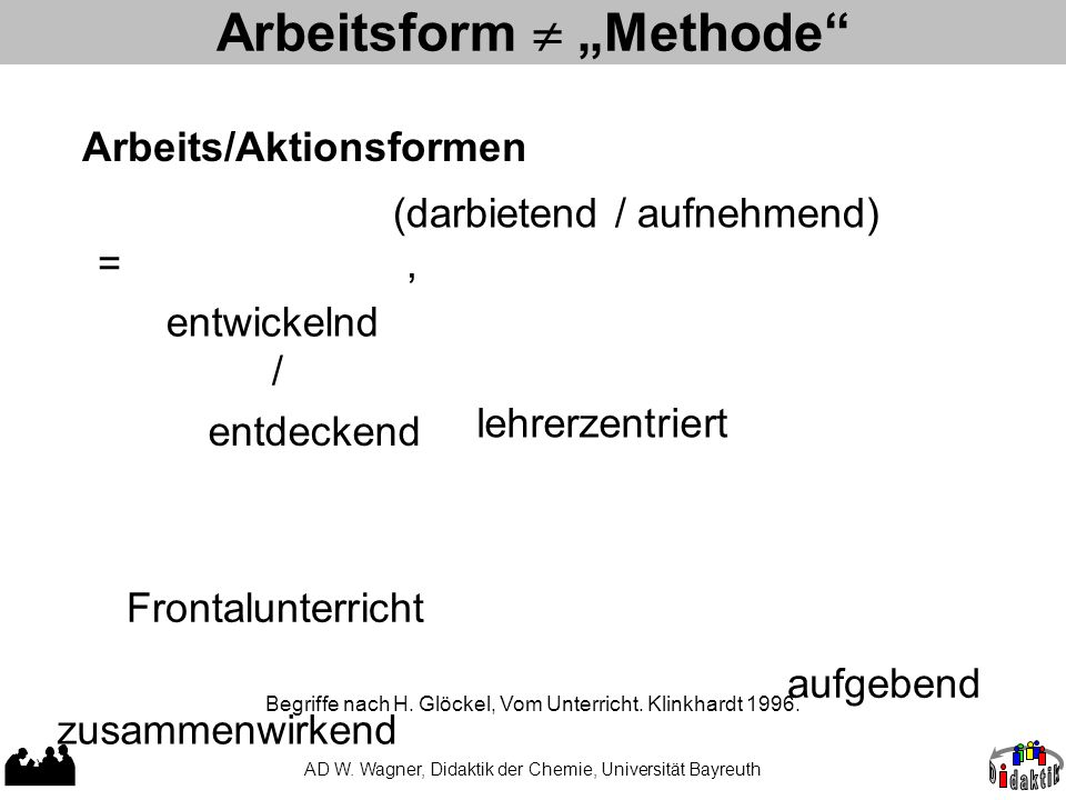 "Arbeitsform  ""Methode"