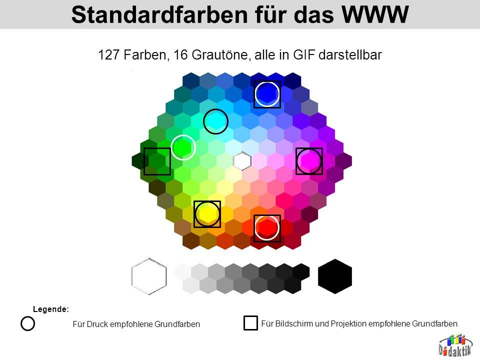 Standardfarben für das WWW