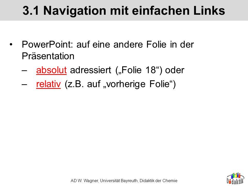 3.1 Navigation mit einfachen Links