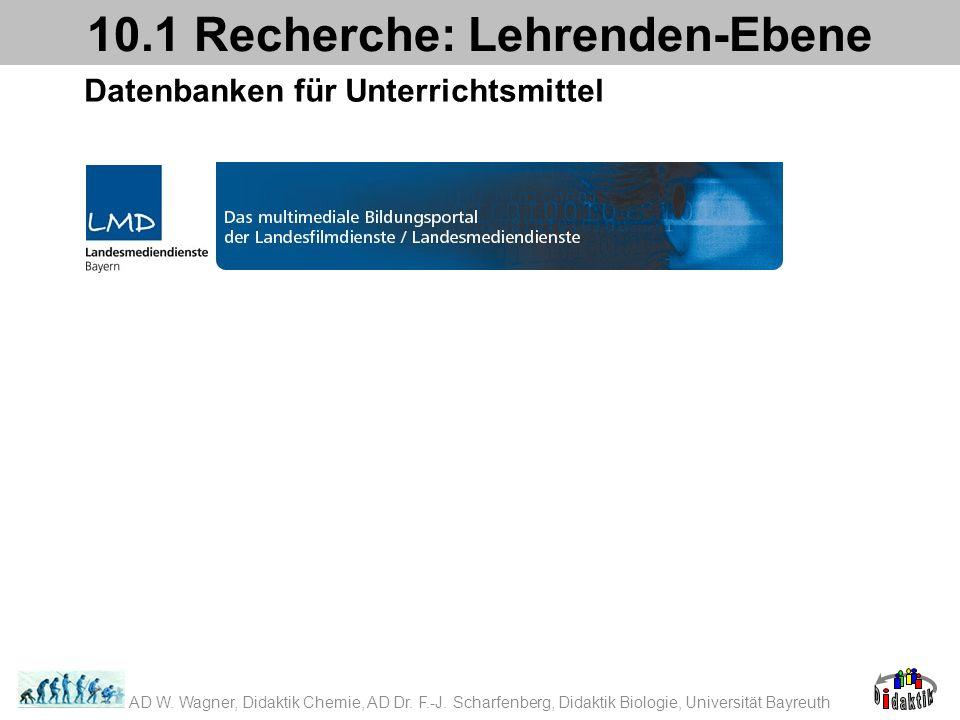 10.1 Recherche: Lehrenden-Ebene