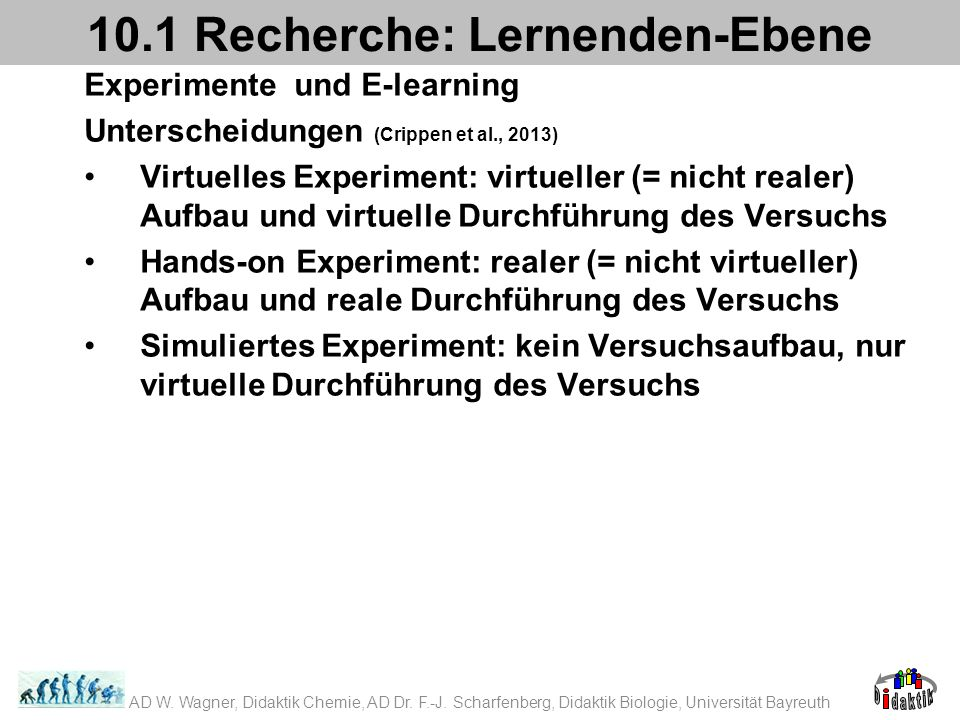 10.1 Recherche: Lernenden-Ebene