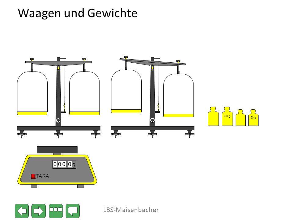 Waagen und Gewichte 100 g 50 g , g TARA LBS-Maisenbacher
