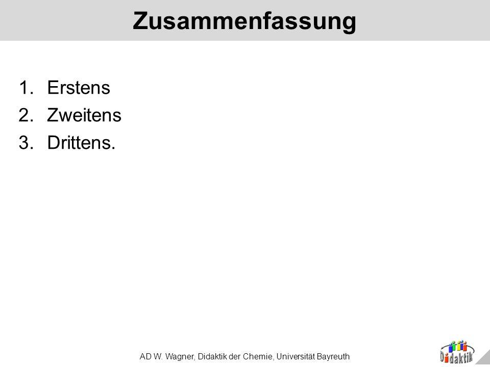 AD W. Wagner, Didaktik der Chemie, Universität Bayreuth