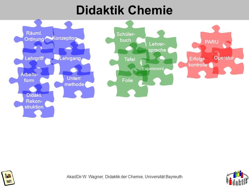 Didaktik Chemie Räuml. Ordnung Konzeption Schüler- buch PARU