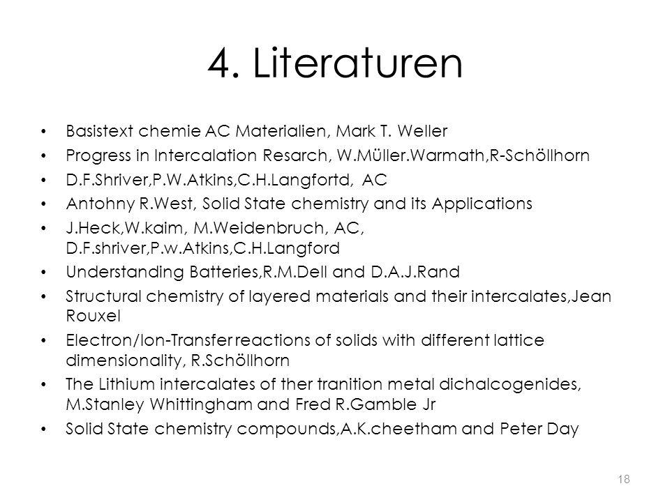 4. Literaturen Basistext chemie AC Materialien, Mark T. Weller