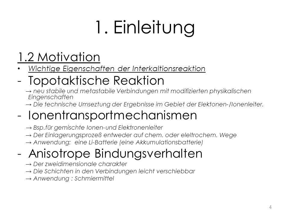 1. Einleitung 1.2 Motivation Topotaktische Reaktion