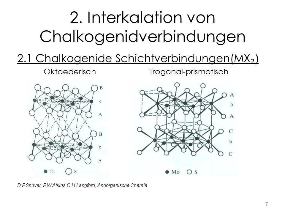 2. Interkalation von Chalkogenidverbindungen