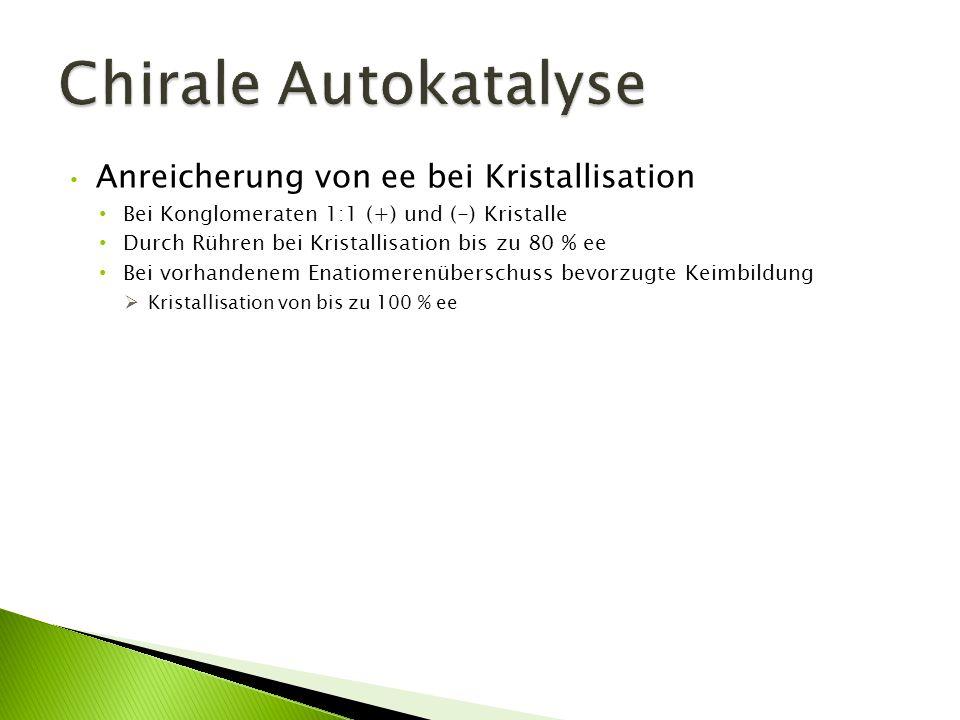 Chirale Autokatalyse Anreicherung von ee bei Kristallisation