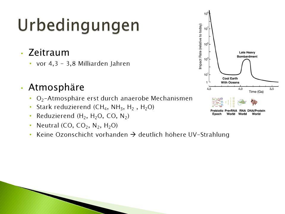 Urbedingungen Zeitraum Atmosphäre vor 4,3 - 3,8 Milliarden Jahren