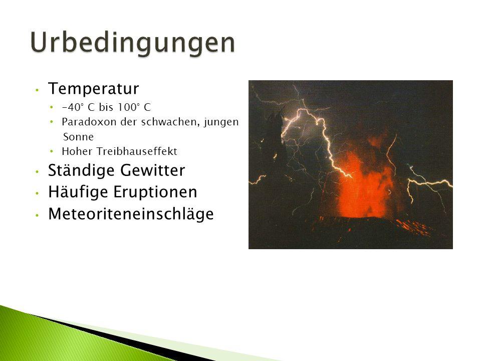 Urbedingungen Temperatur Ständige Gewitter Häufige Eruptionen