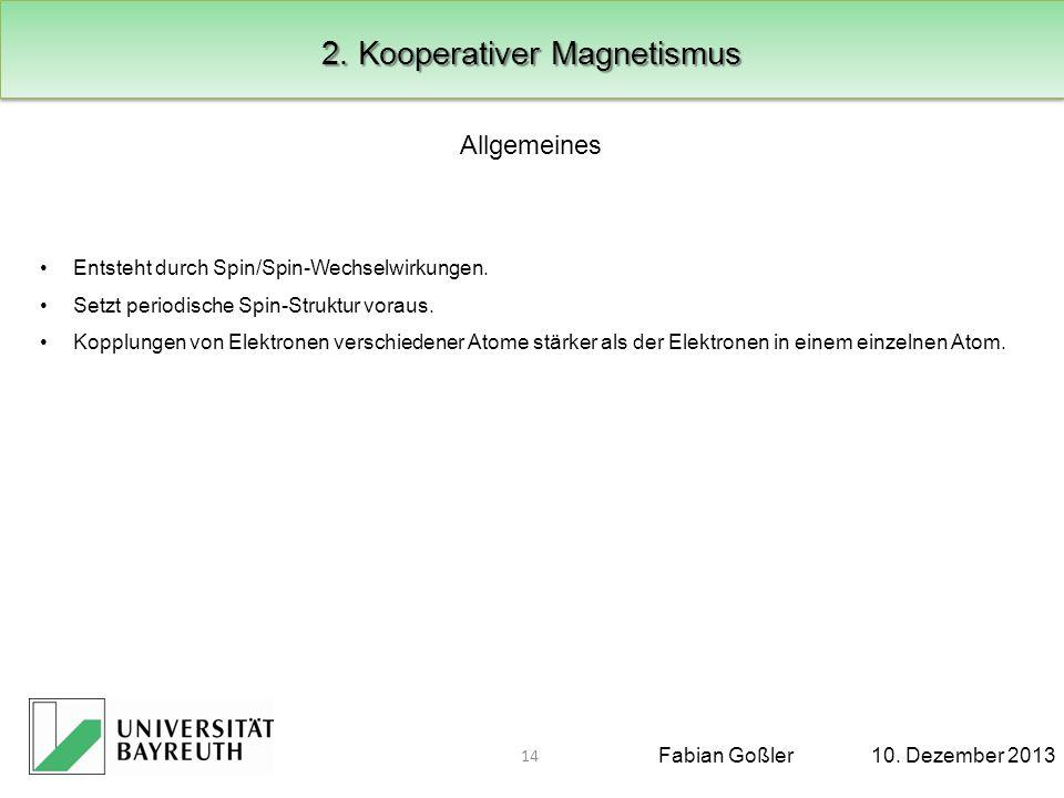 2. Kooperativer Magnetismus