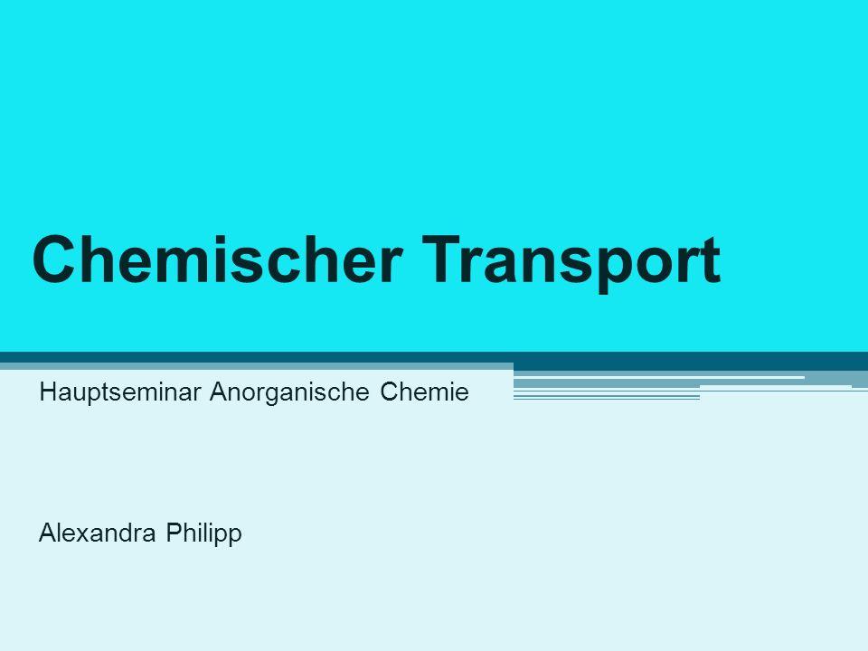 Hauptseminar Anorganische Chemie Alexandra Philipp