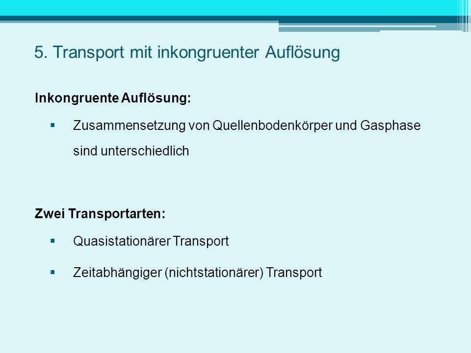 5. Transport mit inkongruenter Auflösung