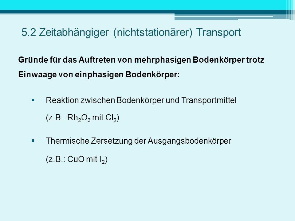 5.2 Zeitabhängiger (nichtstationärer) Transport