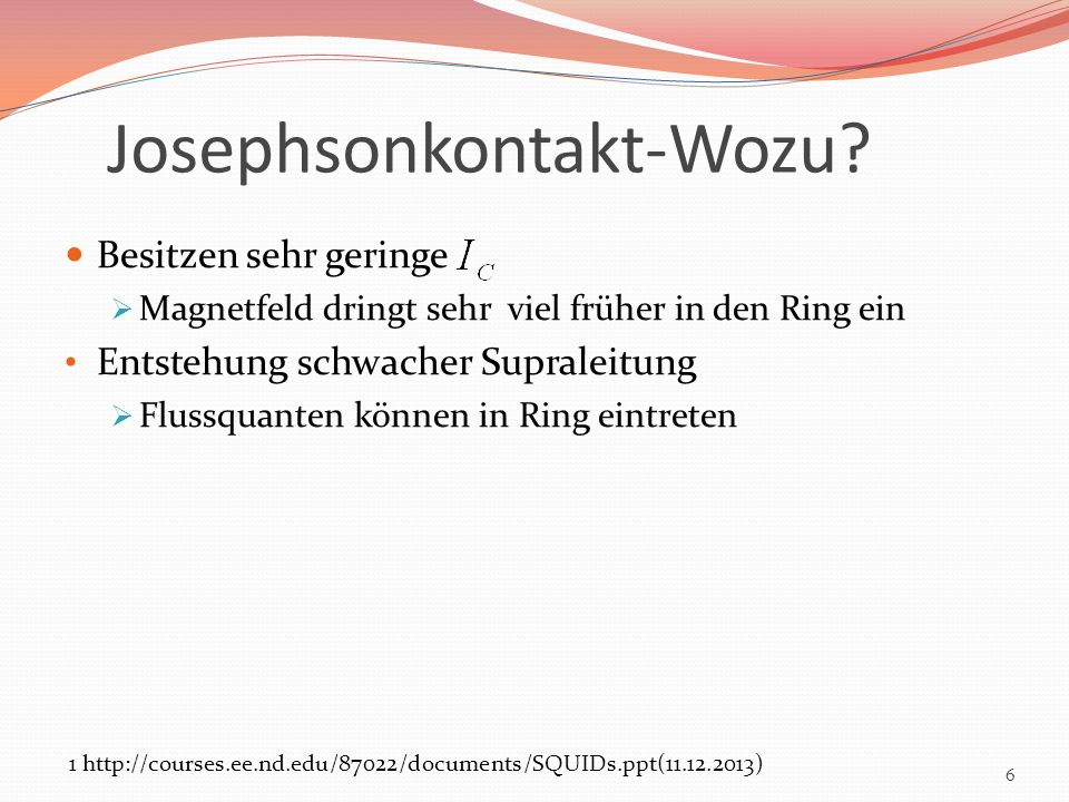 Josephsonkontakt-Wozu