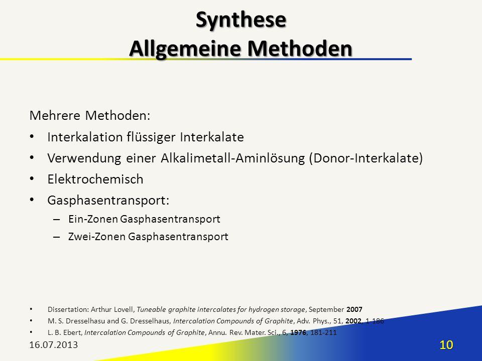 Synthese Allgemeine Methoden