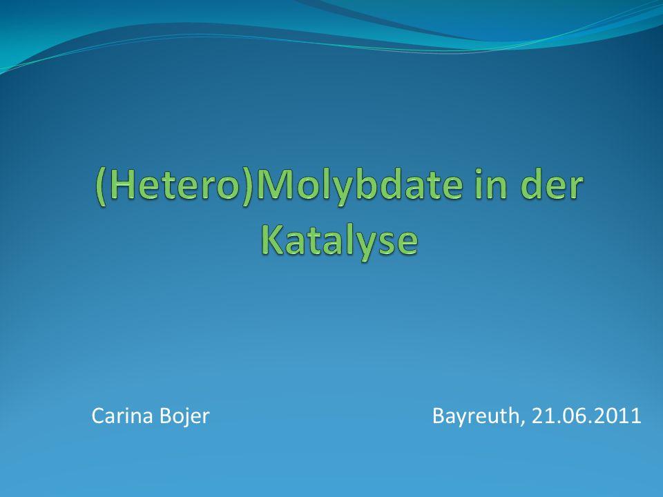 (Hetero)Molybdate in der Katalyse