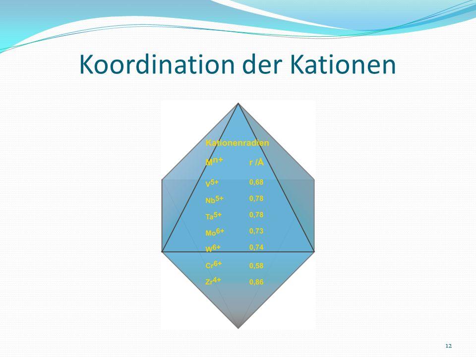 Koordination der Kationen