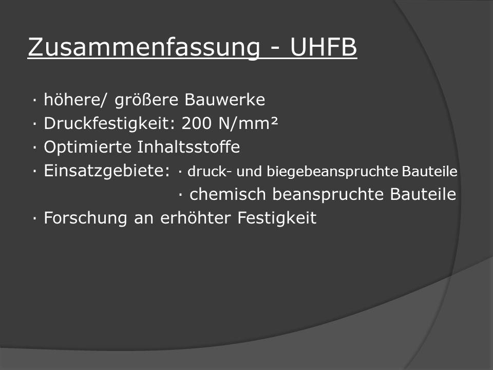 Zusammenfassung - UHFB
