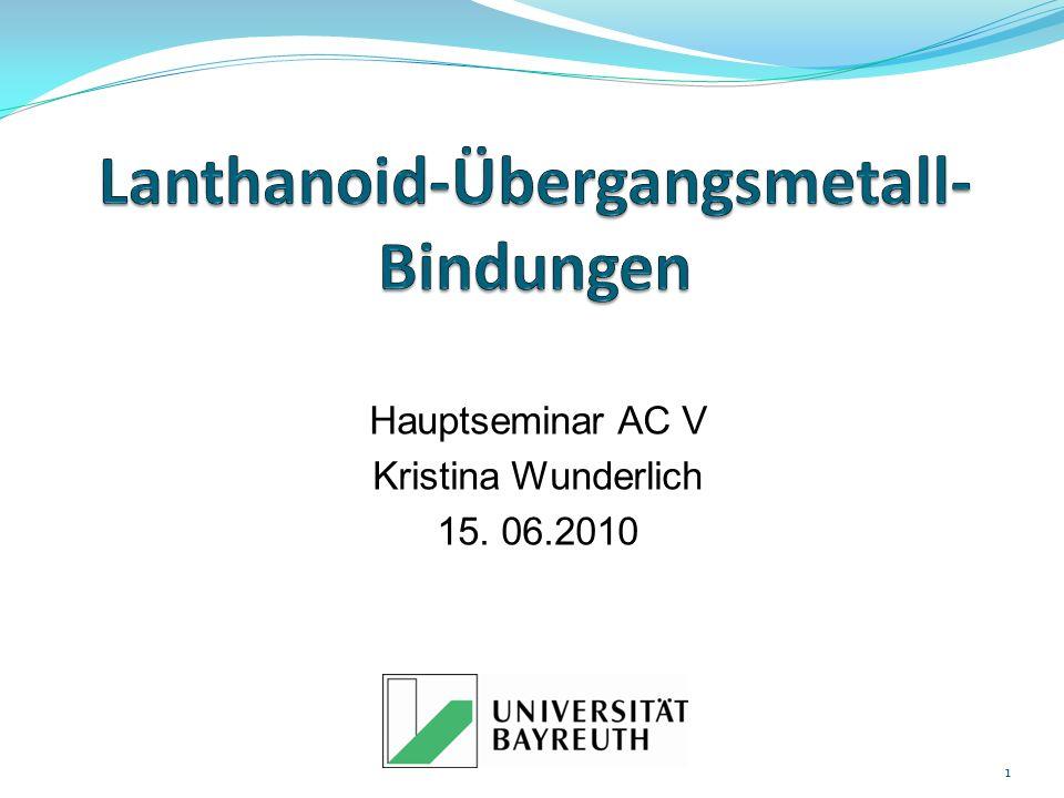 Lanthanoid-Übergangsmetall-Bindungen