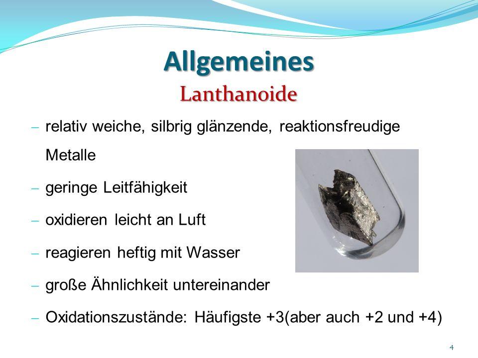 Allgemeines Lanthanoide