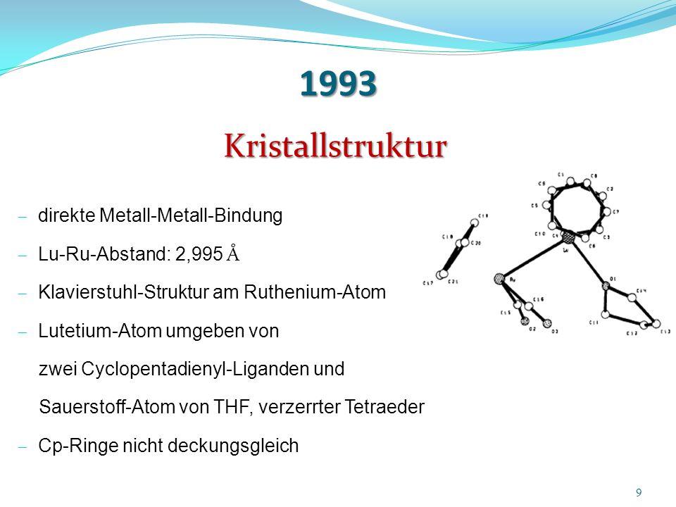 1993 Kristallstruktur direkte Metall-Metall-Bindung
