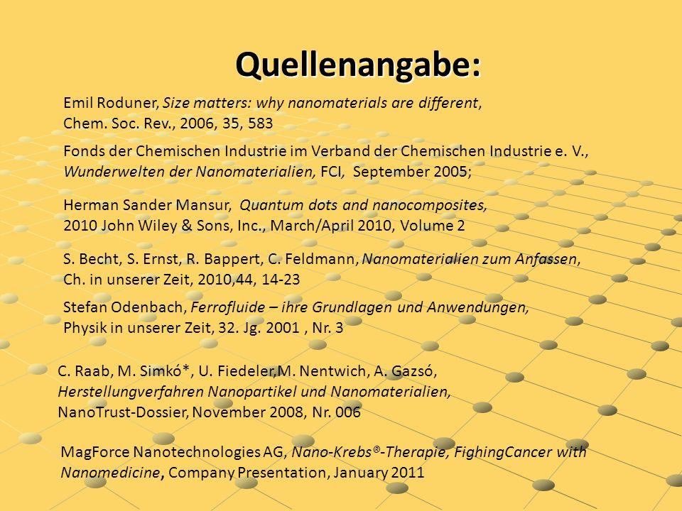 Quellenangabe: Emil Roduner, Size matters: why nanomaterials are different, Chem. Soc. Rev., 2006, 35, 583.