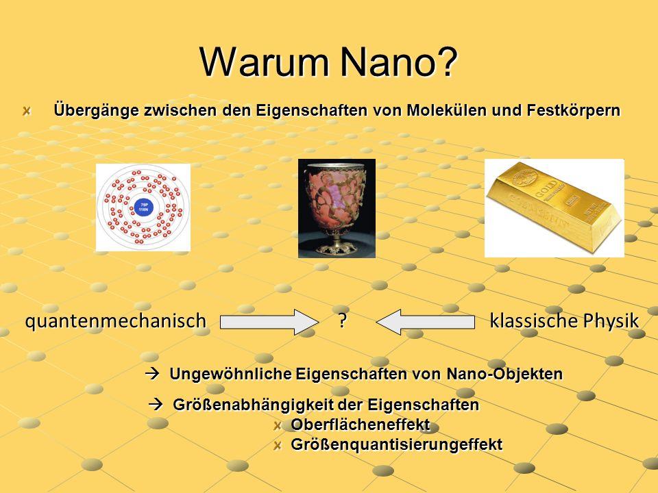 Warum Nano quantenmechanisch klassische Physik