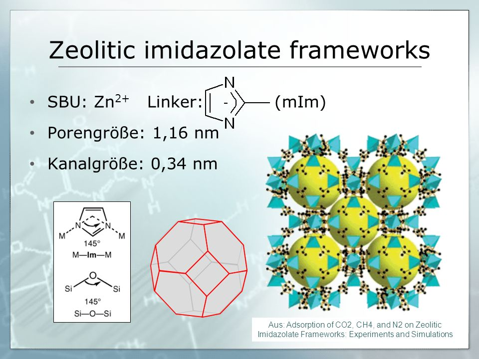 Zeolitic imidazolate frameworks