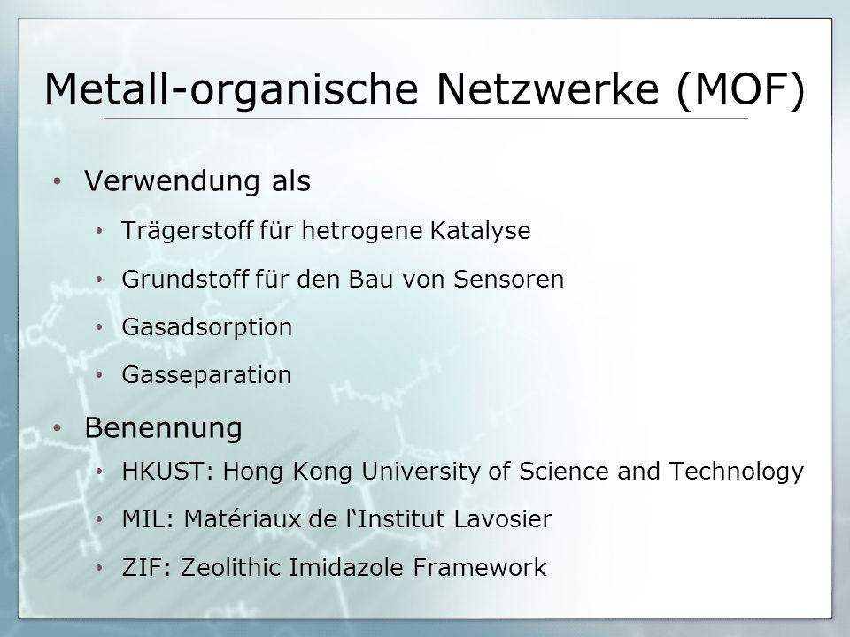 Metall-organische Netzwerke (MOF)