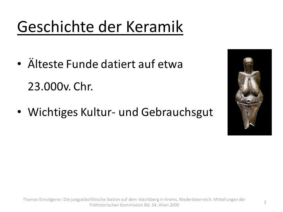 Geschichte der Keramik