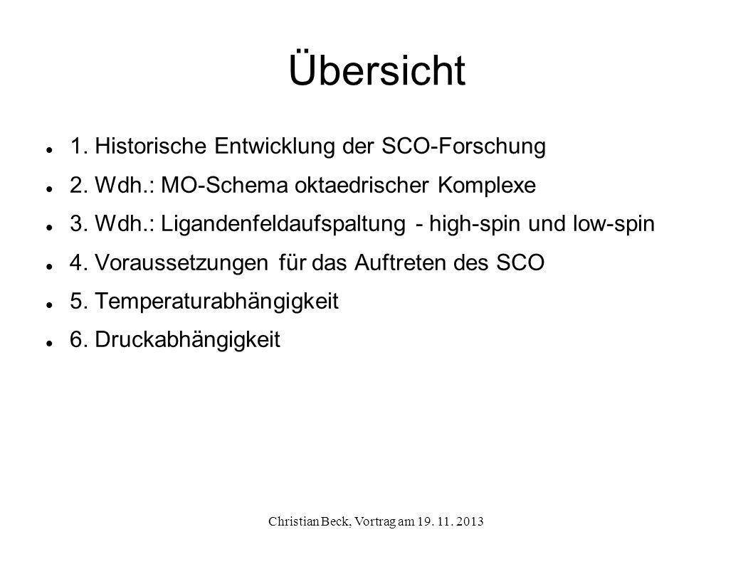 Christian Beck, Vortrag am 19. 11. 2013