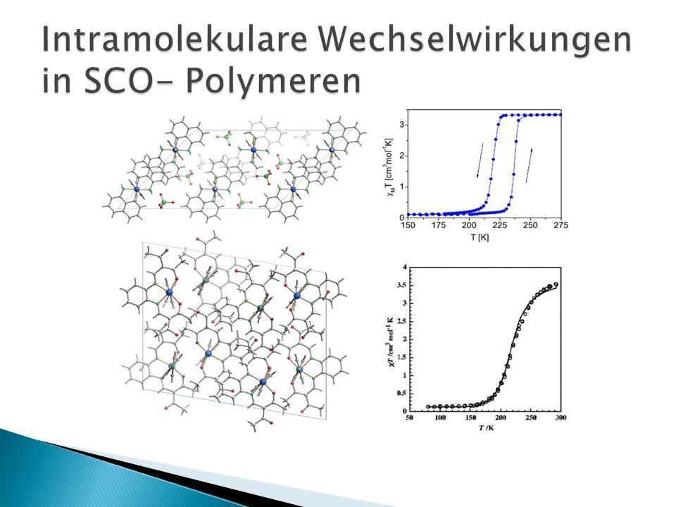 Intramolekulare Wechselwirkungen in SCO- Polymeren