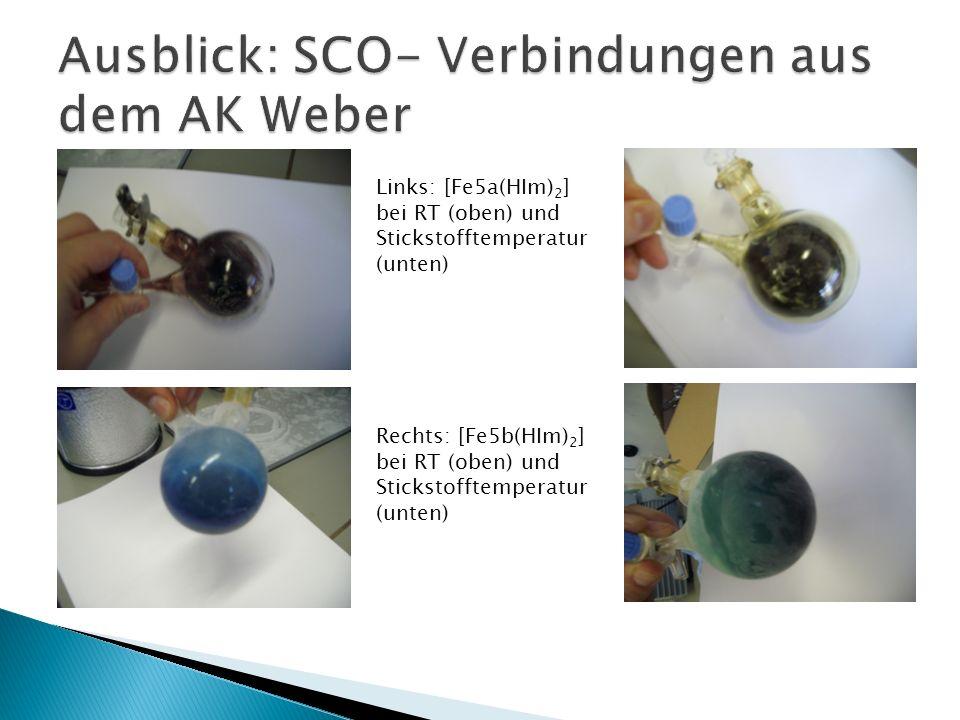 Ausblick: SCO- Verbindungen aus dem AK Weber