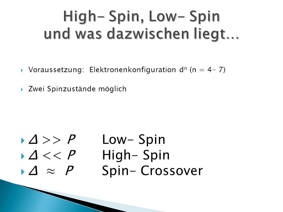 High- Spin, Low- Spin und was dazwischen liegt…