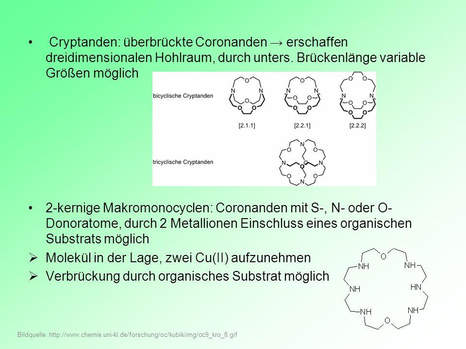 Molekül in der Lage, zwei Cu(II) aufzunehmen