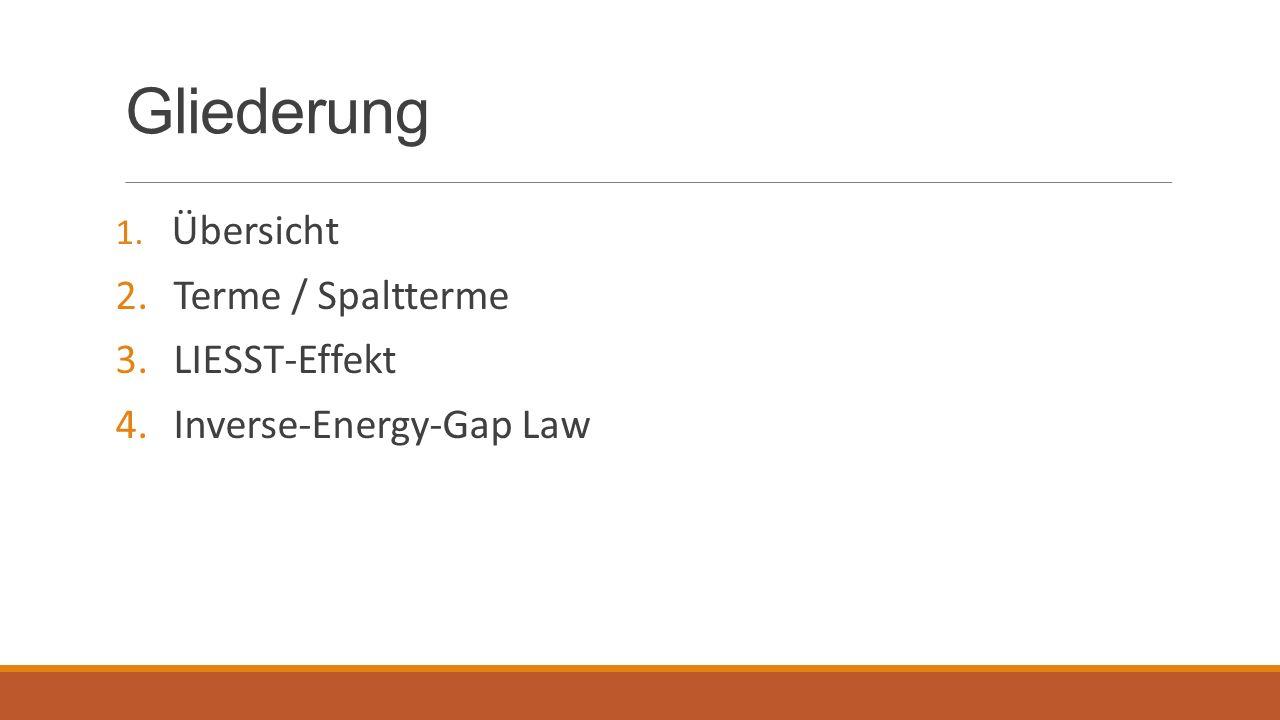 Gliederung Terme / Spaltterme LIESST-Effekt Inverse-Energy-Gap Law