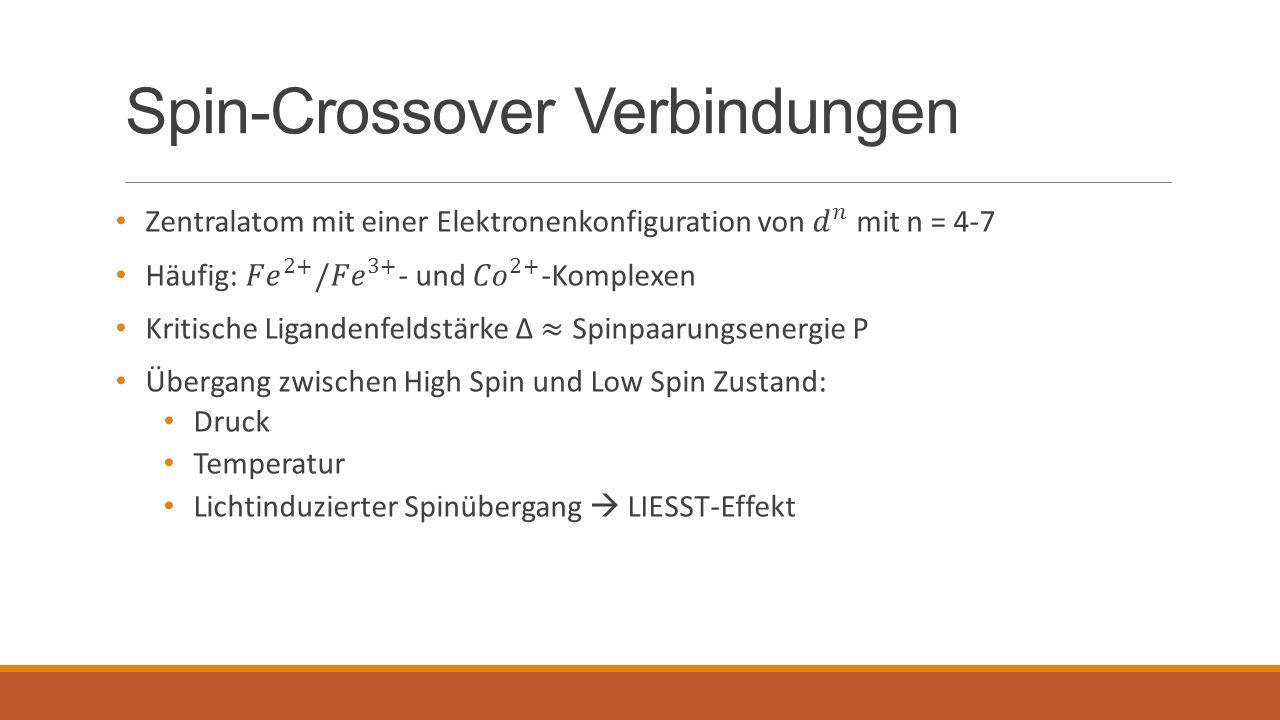 Spin-Crossover Verbindungen