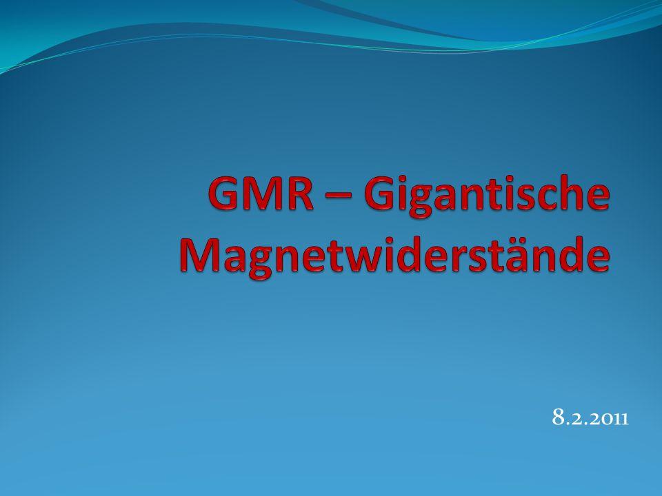 GMR – Gigantische Magnetwiderstände