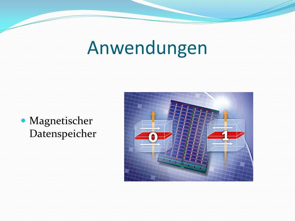Anwendungen Magnetischer Datenspeicher