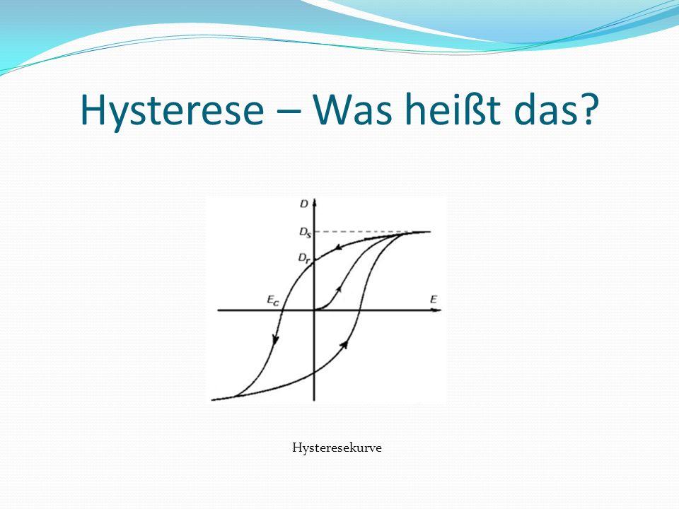 Hysterese – Was heißt das