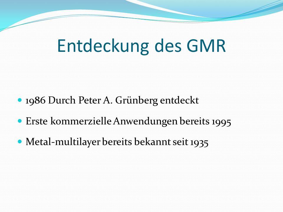 Entdeckung des GMR 1986 Durch Peter A. Grünberg entdeckt