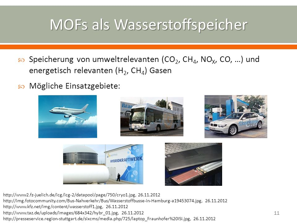 MOFs als Wasserstoffspeicher