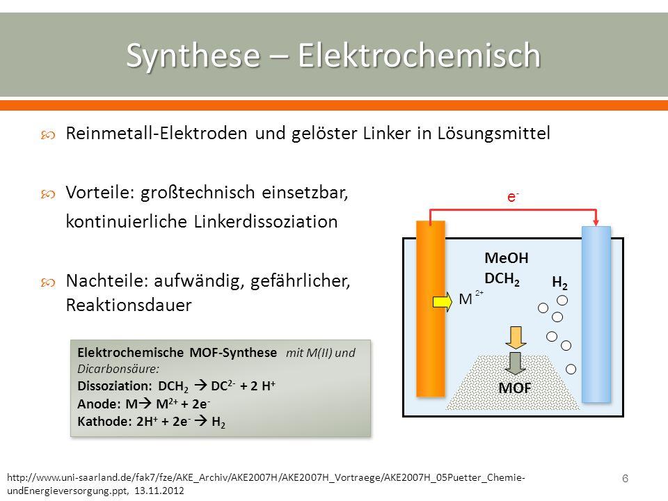 Synthese – Elektrochemisch